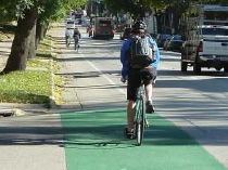 City Adds Color to Bike Lane Conflict Areas