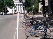 Madison's First On-Street Bicycle Parking Corral Installed on King Street