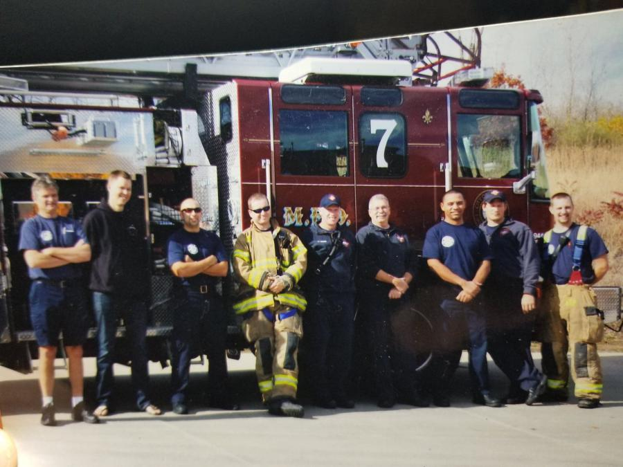 McCosky with crew at Station 7