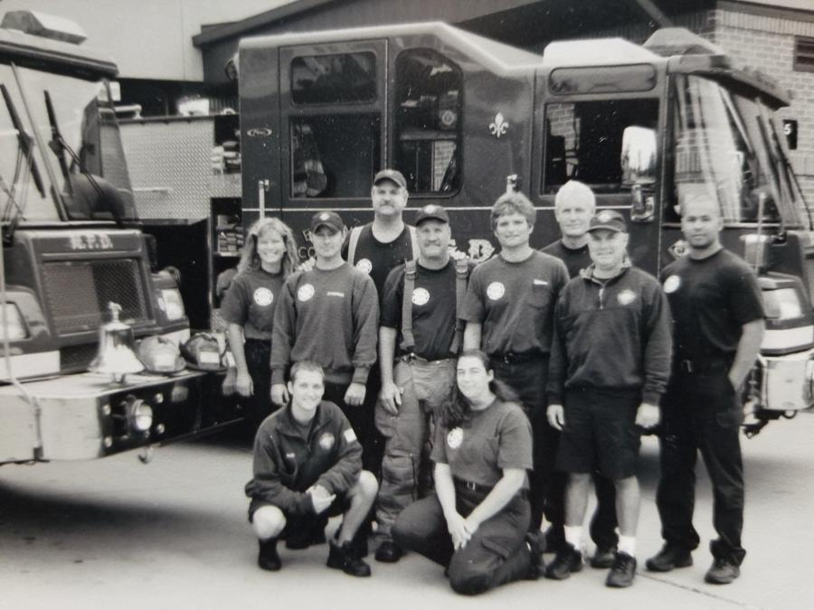 McCosky with his crew at Station 8 on Lien Road