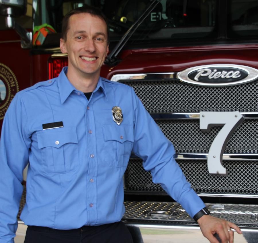 Firefighter Ryan Beckwith
