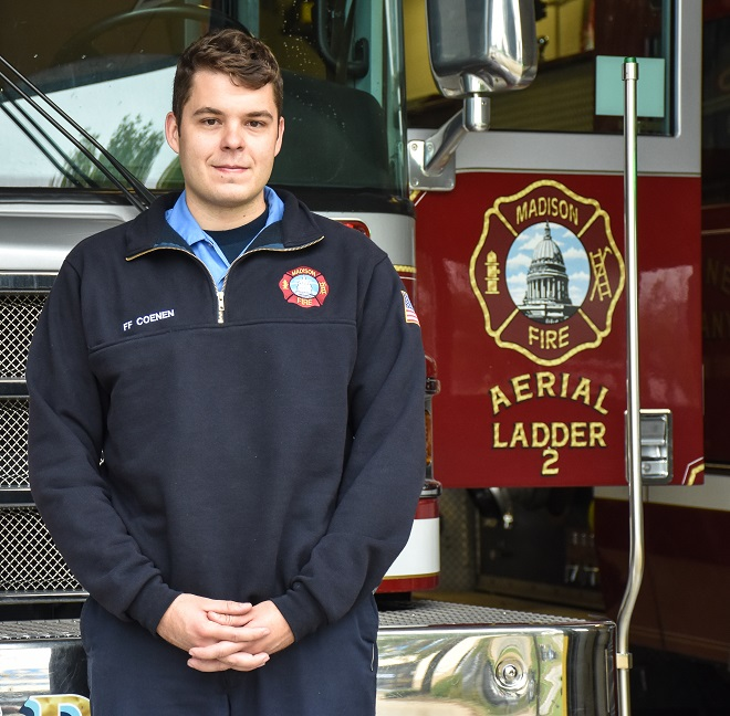 Firefighter Sam Coenen