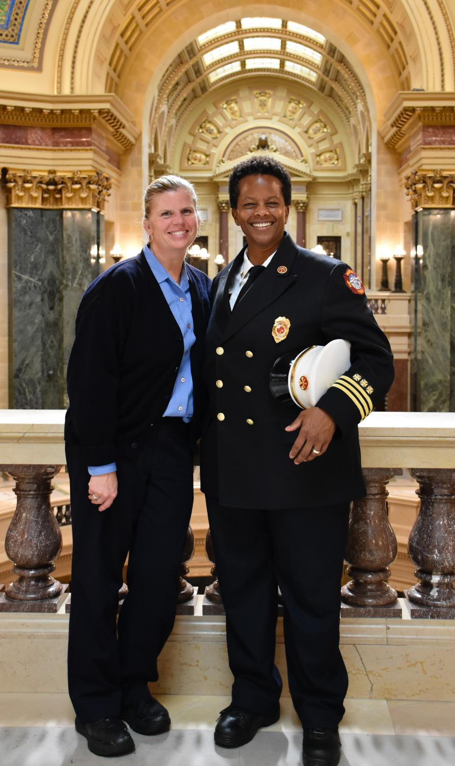 Division Chief Burrus and her wife