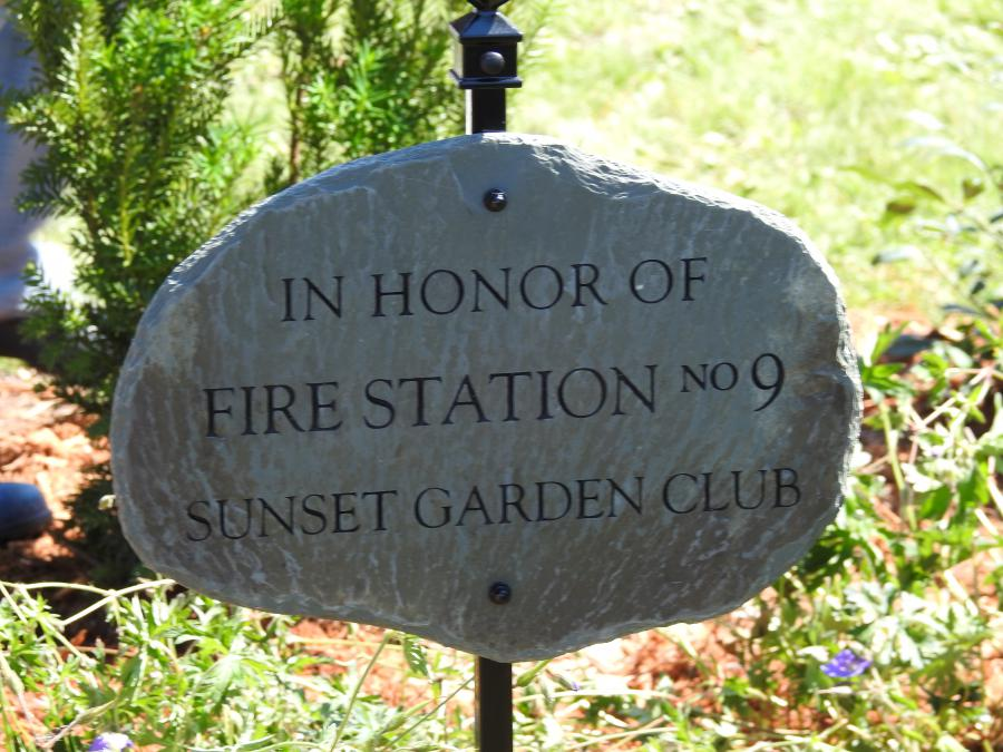 Sign honoring fire station 9