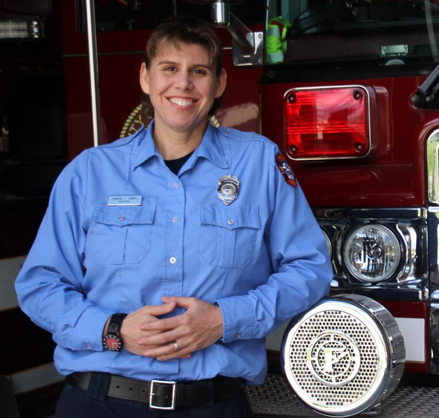 Firefighter Tamara Dinkel