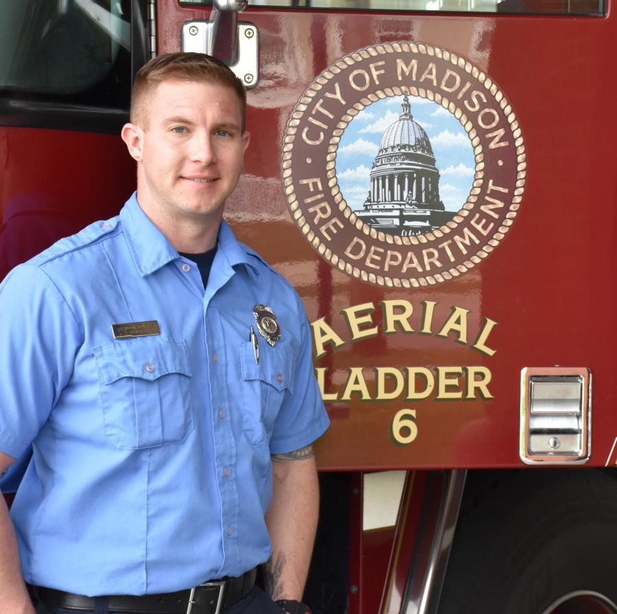 Firefighter Brandon Douglas