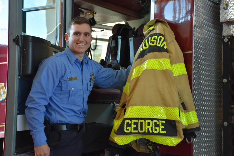 Firefighter Nickolas George