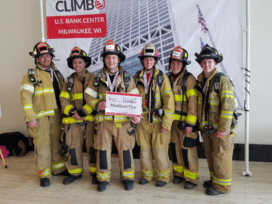 Team Madison Fire at Fight For Air Climb