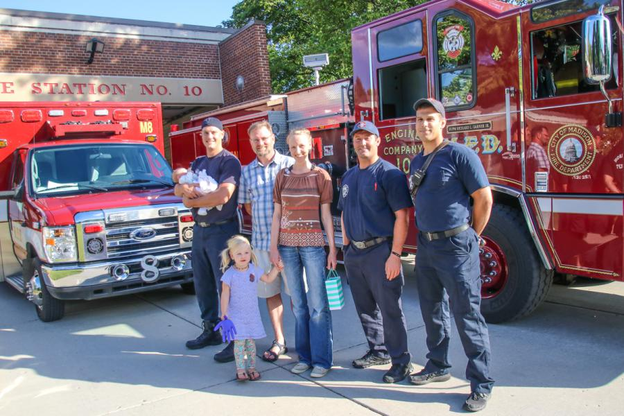 Berna family and first responders