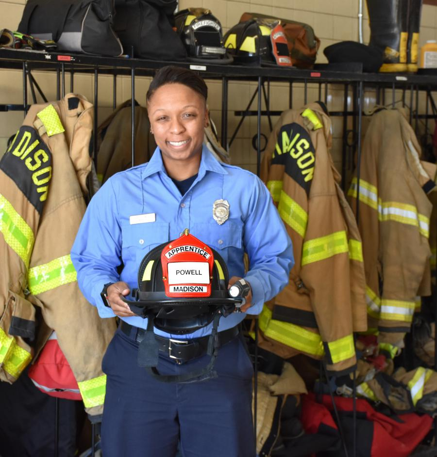 Firefighter Bryce Powell