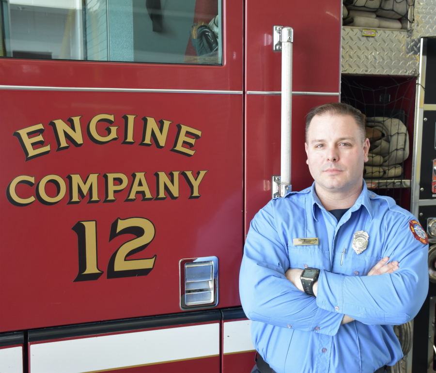 Firefighter Trent Meicher