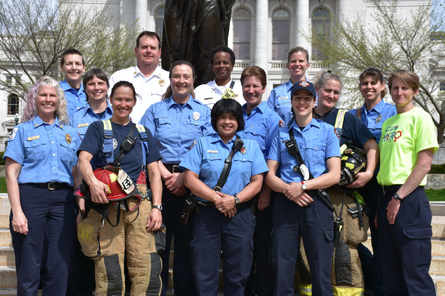 MFD CampHERO volunteers