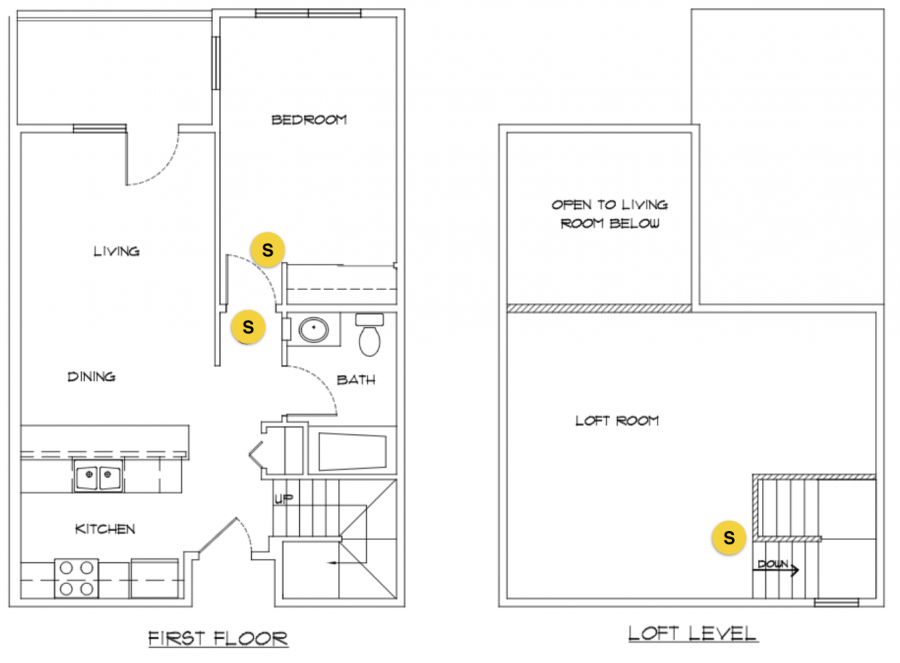 Loft apartment with no bedroom at loft level