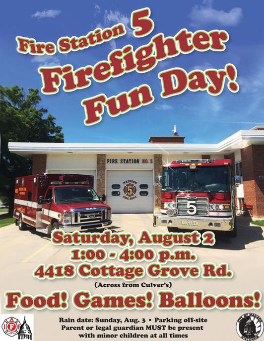 Fire station 5 firefighter fun day