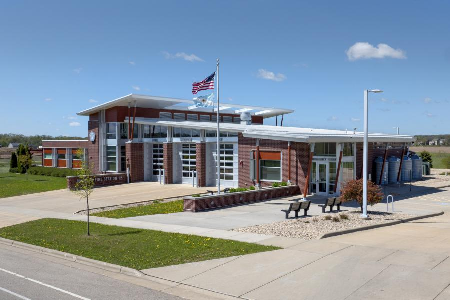 Fire Station 12 - Station 12 serves Madison's far west side and is the City's first LEED Platinum certified building.
