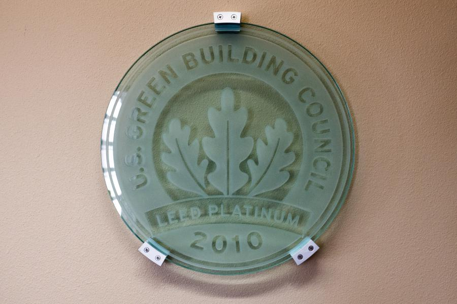 LEED Platinum Certification - Station 12 is energy efficient and the City's first LEED Platinum building.