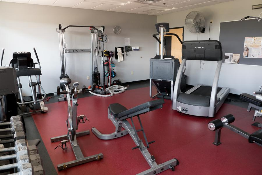 Station 12 Workout Room - Firefighters are allotted time each day to use the workout room. Maintaining peak performance is crucial on the job.