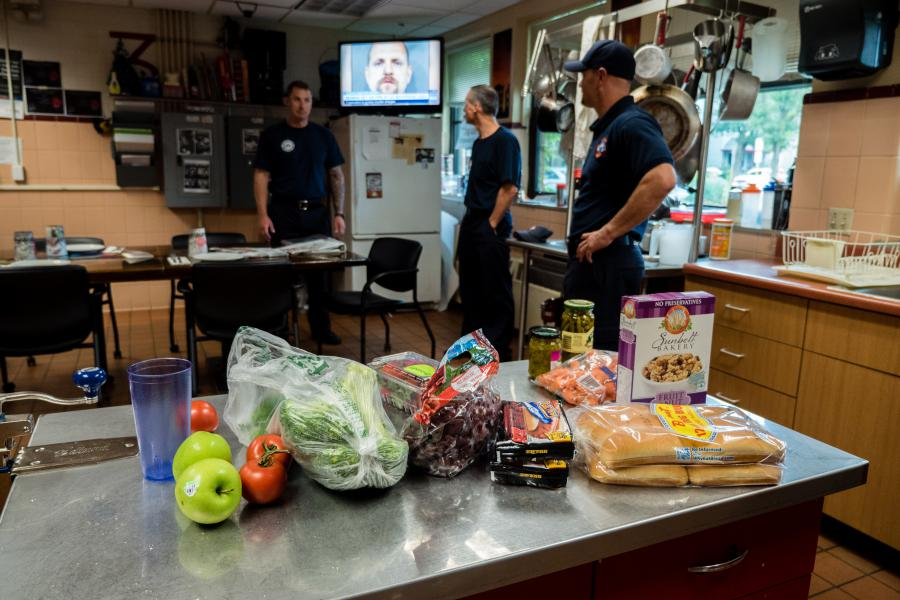 Station 3 Kitchen - The firefighters and paramedics of Fire Station 3 dine together every day.