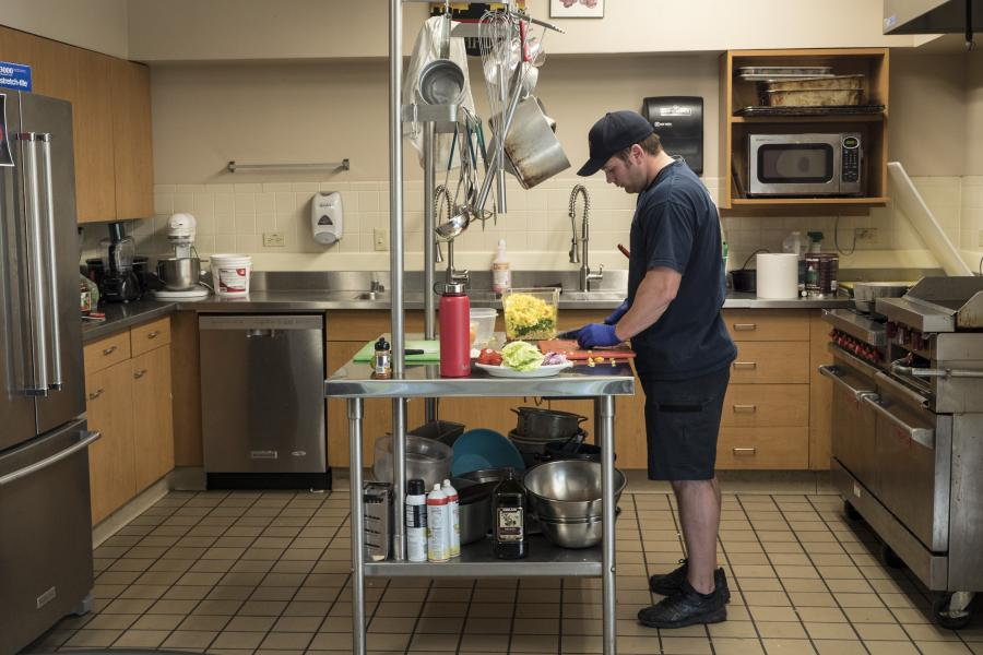 Station 6 Kitchen - The kitchen at Station 6 is equipped to keep six firefighters and paramedics well-fed every day.