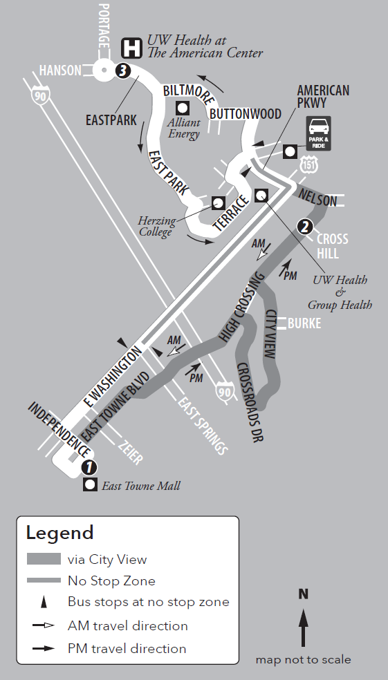 Route 26 Service to/from Far East and East Towne Mall