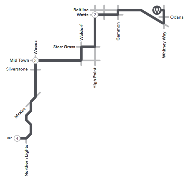 Route 55 service to/from West Transfer and Epic