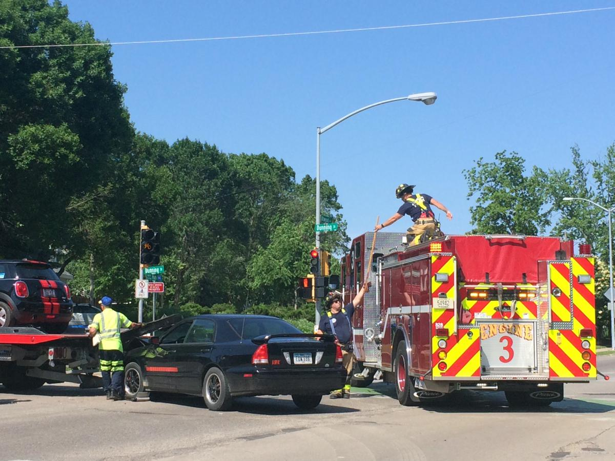 Two Cars Damaged In East Side Crash No Injuries Fire