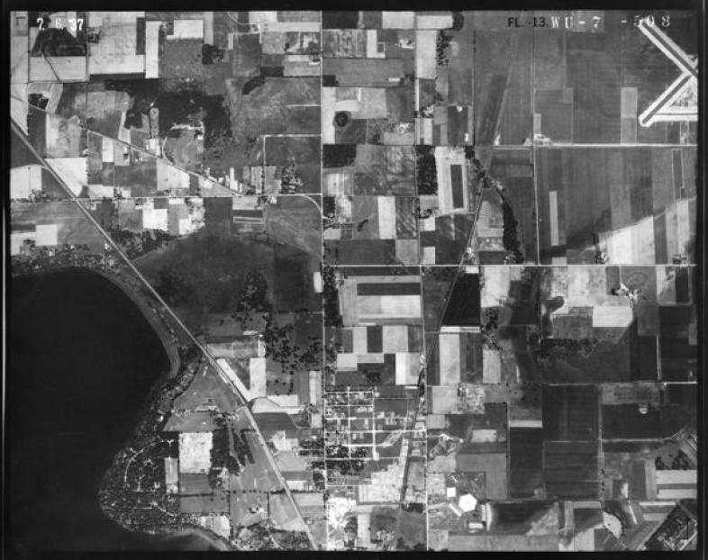 1937 Aerial Image of Castle Marsh
