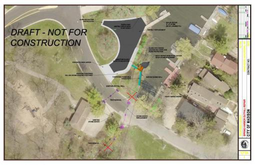 Proposed Spring Harbor Outfall Repair - Plan View