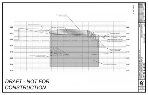 Proposed Spring Harbor Retaining Wall - Profile View