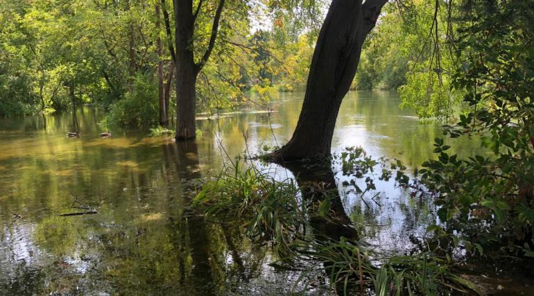 Area of flooding in Madison