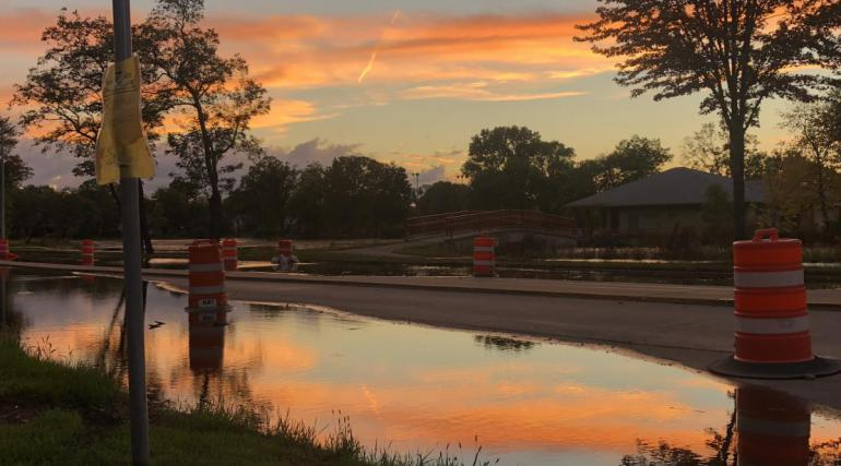 This photo shows a flooded area in madison
