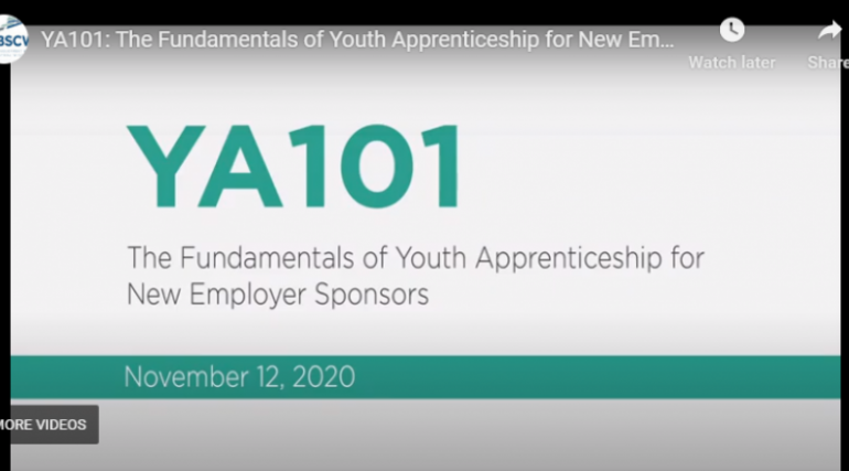 YA101 Fundamentals of Your Apprenticeship for New Employer Sponsors