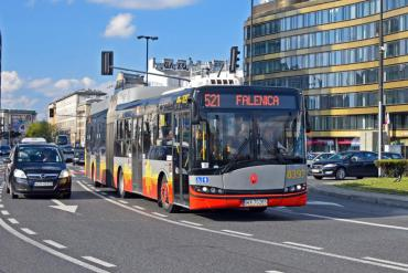Image of a BRT bus in another city