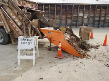 Residents can also use the drop-off sites for yard waste