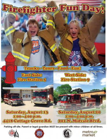 Firefighter Fun Day poster-English