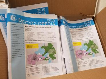 2019 Recyclopedias Now Available at Library Branches or by contacting the Streets Division