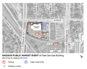 May 8 Event Parking Map