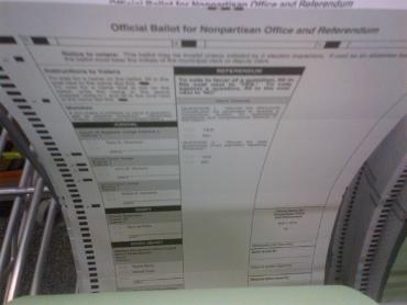 Ballot with ovals