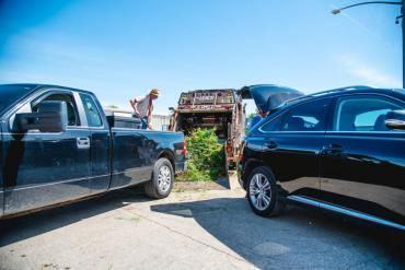 The Streets Division drop-off site attendants will no longer assist any resident when unloading material at the sites.