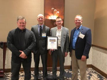 Engineering Division accepts State Award in La Crosse, Wis. May 2019