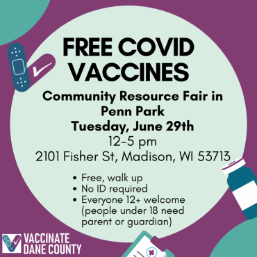 COVID-19 Vaccine Clinic available June 29 in Penn Park