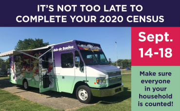 Take the Census at Dream Bus stops September 14-18