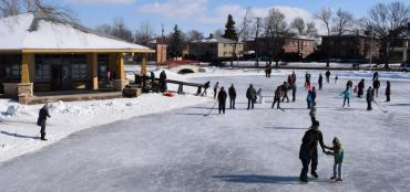 Ice skaters at Tenney Park