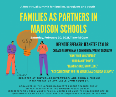 Families as Partners in Madison Schools event