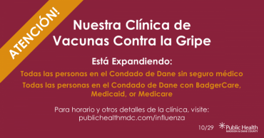 Graphic in Spanish that details clinic change