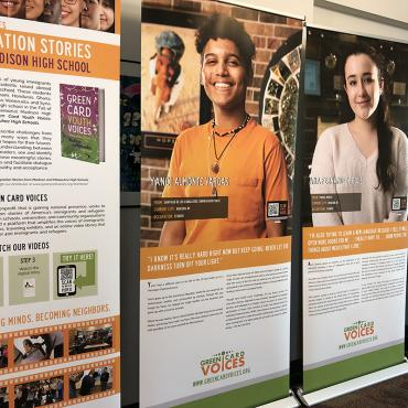 Green Card Voices exhibit