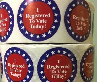 I Registered to Vote Today stickers