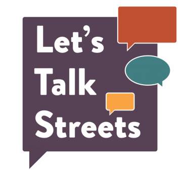 Logo Image for Let's Talk Streets with chat bubbles of multi-colors