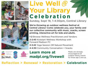 Live Well @ Your Library Celebration social graphic