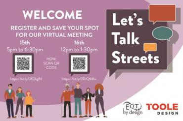 Image of Let's Talk Streets Promotional Poster